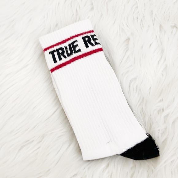 True Religion 2 Pack Long Track Socks Sz6-12